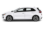 Car driver side profile view of a 2018 Hyundai Elantra GT GT Sport MT 5 Door Hatchback