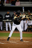 UCF Knights Tom Josten (6) bats during a game against the Siena Saints on February 14, 2020 at John Euliano Park in Orlando, Florida.  UCF defeated Siena 2-1.  (Mike Janes/Four Seam Images)