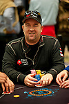 Team Pokerstars Pro Chris Moneymaker scoops a pot that put him near the chip lead.