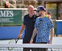 DELRAY BEACH, FL - NOVEMBER 05: Jared McGraw and Luke Jensen participates in the 28th Annual Chris Evert/Raymond James Pro-Celebrity Tennis Classic at Delray Beach Tennis Center on November 5, 2017 in Delray Beach, Florida<br /> CAP/MPI122<br /> &copy;MPI122/Capital Pictures