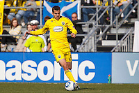 27 MARCH 2010:  Eric Brunner of the Columbus Crew (23) during the Toronto FC at Columbus Crew MLS game in Columbus, Ohio on March 27, 2010.