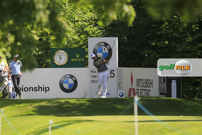 Scott Hend (AUS) on the 5th tee during Round 1 of The BMW PGA Championship  at Wentworth Golf Club on Thursday 25th May 2017.<br /> Photo: Golffile / Thos Caffrey.<br /> <br /> All photo usage must carry mandatory copyright credit     (&copy; Golffile | Thos Caffrey)