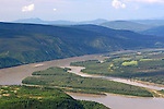 View from Solomon's Dome, Dawson City, The Yukon, Canada