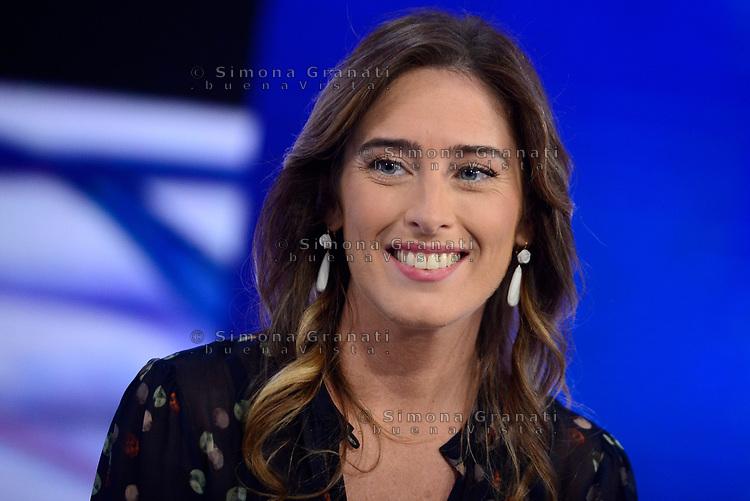 Roma, 18 Ottobre 2019<br /> Maria Elena Boschi a L'Aria che tira, di Italia Viva