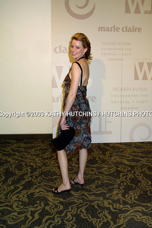 ©2003 KATHY HUTCHINS / HUTCHINS PHOTO AGENCY.WOMEN IN FILM CELEBRATES THE CRYSTAL AND LUCY AWARDS.MONDAY, JUNE 2, 2003.CENTURY CITY, CA..ELIZABETH BANKS