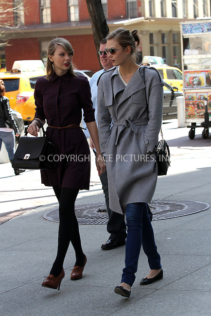 WWW.ACEPIXS.COM<br /> <br /> April 3 2014, New York City<br /> <br /> Taylor Swift and Karlie Kloss went for a walk in Tribeca on April 3 2014 in New York City<br /> <br /> <br /> By Line: Zelig Shaul/ACE Pictures<br /> <br /> <br /> ACE Pictures, Inc.<br /> tel: 646 769 0430<br /> Email: info@acepixs.com<br /> www.acepixs.com
