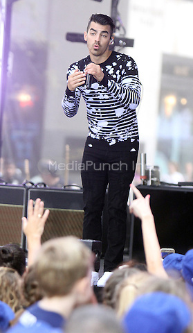 NEW YORK, NY-August 26:  JinJoo Lee, Joe Jonas of DNCE performed NBC's Today Show Citi Concert Series at Rockefeller Center in New York. NY August 26, 2016. Credit:RW/MediaPunch