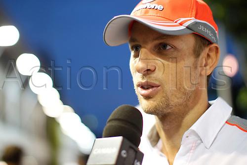 20.09.2013. Singapore. FIA Formula One World Championship 2013, Grand Prix of Singapore, <br /> #5 Jenson Button (GBR, Vodafone McLaren Mercedes),