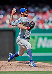 20 May 2018: Los Angeles Dodgers pitcher Tony Cingrani on the mound against the Washington Nationals at Nationals Park in Washington, DC. The Dodgers defeated the Nationals 7-2, sweeping their 3-game series. Mandatory Credit: Ed Wolfstein Photo *** RAW (NEF) Image File Available ***