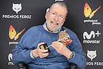 Narciso Ibáñez Serrador win the honorific award at Feroz Awards 2017 in Madrid, Spain. January 23, 2017. (ALTERPHOTOS/BorjaB.Hojas)