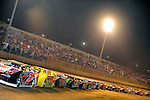 Sep 12, 2009; 10:07:11 PM; Rossburg, OH., USA; The 39th annual running of the World 100 Dirt Late Models racing for the Globe trophy at the Eldora Speedway.  Mandatory Credit: (thesportswire.net)
