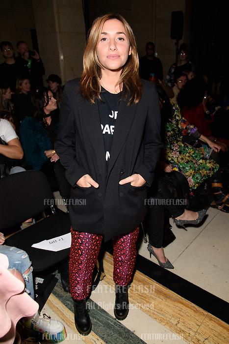 Melanie Blatt at the Pam Hogg show during London Fashion Week AW18, at the Freemasons' Hall in London, UK. <br /> 16 February  2018<br /> Picture: Steve Vas/Featureflash/SilverHub 0208 004 5359 sales@silverhubmedia.com