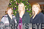 PARTY: The staff of the Kerry Education Service having great fun at Christmas Party in the Fels Point Hotel on Friday l-r: Eileen Lenihan, Norma Hickey and Helen O'Mahony.