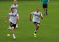 Sebastian Rudy (Deutschland Germany), Julian Brandt (Deutschland Germany), Nils Petersen (Deutschland Germany) - 24.05.2018: Training der Deutschen Nationalmannschaft zur WM-Vorbereitung in der Sportzone Rungg in Eppan/Südtirol