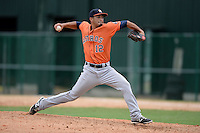 Houston Astros pitcher Jorge Perez (12) during an Instructional League game against the Atlanta Braves on September 22, 2014 at the ESPN Wide World of Sports Complex in Kissimmee, Florida.  (Mike Janes/Four Seam Images)