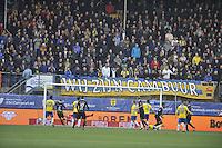 VOETBAL: LEEUWARDEN: 08-11-2015, SC Cambuur - FC Groningen, uitslag 2-2, FC Groningen scoort, ©foto Martin de Jong