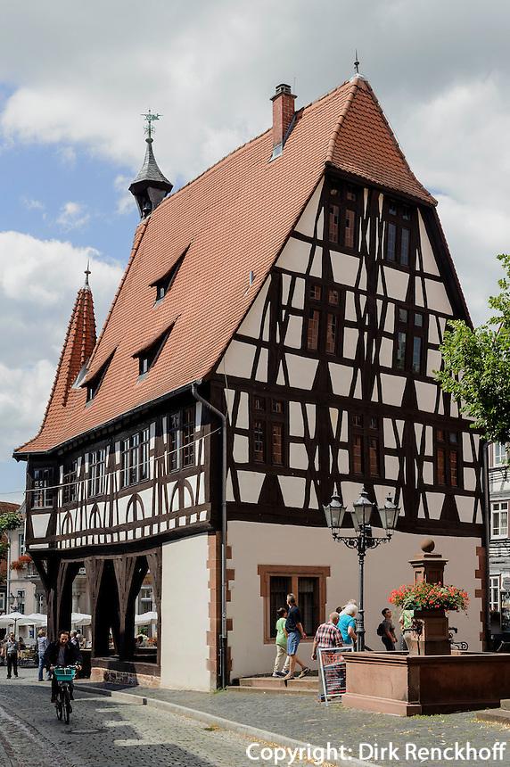 Rathaus von 1484, Michelstadt im Odenwald, Hessen, Deutschland