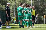 11.01.2019, Bidvest Stadion, Braampark, Johannesburg, RSA, FSP, SV Werder Bremen (GER) vs Bidvest Wits FC (ZA)<br /> <br /> im Bild / picture shows <br /> Mehrfachwechsel Werder, Philipp Bargfrede (Werder Bremen #44) wird vor Einwechslung von Kevin Möhwald / Moehwald (Werder Bremen #06) umarmt, <br /> <br /> Foto © nordphoto / Ewert