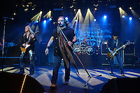 www.acepixs.com<br /> <br /> February 10 2017, Pompano Beach<br /> <br /> Rickey Medlocke, Johnny Van Zant and Gary Rossington of Lynyrd Skynyrd performing at The Pompano Beach Amphitheater on February 10, 2017 in Pompano Beach, Florida. <br /> <br /> By Line: Solar/ACE Pictures<br /> <br /> ACE Pictures Inc<br /> Tel: 6467670430<br /> Email: info@acepixs.com<br /> www.acepixs.com