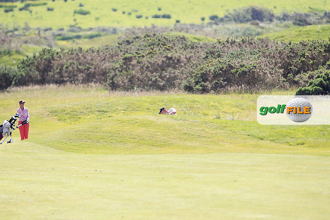 Alan Mew (ENG) on the 3rd during Round 3 of the Irish Seniors Amateur Open Championship in the Waterville Golf Club on Friday 30th May 2014.<br /> Picture:  Thos Caffrey / www.golffile.ie