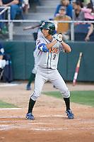 August 6, 2010: Boise Hawks' Kyung-Min Na (#9) at-bat during a Northwest League game against the Everett AquaSox at Everett Memorial Stadium in Everett, Washington.