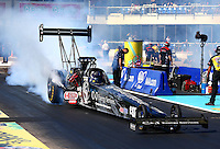 Sept. 22, 2013; Ennis, TX, USA: NHRA top fuel dragster driver Bob Vandergriff Jr during the Fall Nationals at the Texas Motorplex. Mandatory Credit: Mark J. Rebilas-