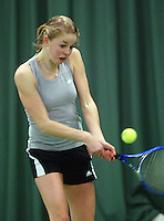 10-3-06, Netherlands, tennis, Rotterdam, National indoor junior tennis championchips, Sarah de Boer