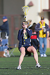 Santa Barbara, CA 02/19/11 - Britt Boehm (Michigan #5) in action during the Michigan-UC Davis game at the 2011 Santa Barbara Shootout.