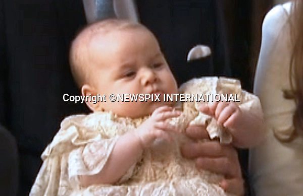 PRINCE GEORGE CHRISTENING<br /> Royal Chapel, St. James' Palace, London<br /> The private service was attended by the the parents Duke &amp; Duchess of Cambridge, Prince Charles, Camilla, Duchess of Cornwall, The Queen, Dule of Edinburgh, Prince Harry and Zara Phillips and other godparents.<br /> Mandatory Credit Photo: &copy;NEWSPIX INTERNATIONAL<br /> <br /> **ALL FEES PAYABLE TO: &quot;NEWSPIX INTERNATIONAL&quot;**<br /> <br /> IMMEDIATE CONFIRMATION OF USAGE REQUIRED:<br /> Newspix International, 31 Chinnery Hill, Bishop's Stortford, ENGLAND CM23 3PS<br /> Tel:+441279 324672  ; Fax: +441279656877<br /> Mobile:  07775681153<br /> e-mail: info@newspixinternational.co.uk