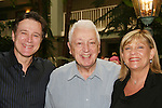 "Guiding Light's Frank Dicopoulos ""Frank Cooper"" poses with his dad Harry and costar Kim Zimmer at the Young Women's Breast Cancer Foundation event - Reach to Recovery - ""Spring into Shape!"" Luncheon and Fashion Show on April 6, 2008 at Embassy Suites, Coraopolis, Pennsylvania. The event also included a Chinese Auction and an autograph session with the Guiding Light actors. (Photo by Sue Coflin/Max Photos)"