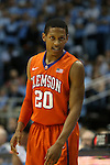 30 December 2015: Clemson's Jordan Rober. The University of North Carolina Tar Heels hosted the Clemson University Tigers at the Dean E. Smith Center in Chapel Hill, North Carolina in a 2015-16 NCAA Division I Men's Basketball game. UNC won the game 80-69.
