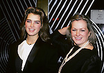 Brooke Shields and mom Teri Shields at Regine's, New York City. 1983.