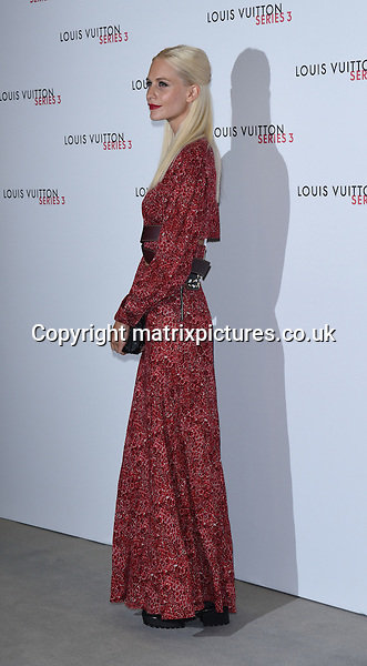 NON EXCLUSIVE PICTURE: MATRIXPICTURES.CO.UK<br /> PLEASE CREDIT ALL USES<br /> <br /> WORLD RIGHTS<br /> <br /> English model Poppy Delevingne attending the Louis Vuitton Series 3 Exhibition launch party, in London. <br /> <br /> SEPTEMBER 20th 2015<br /> <br /> REF: SLI 152927