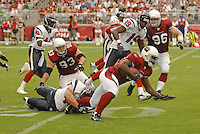 Aug 18, 2007; Glendale, AZ, USA; Arizona Cardinals wide receiver Michael Spurlock (15) returns a kick off in the fourth quarter against the Houston Texans at University of Phoenix Stadium. Mandatory Credit: Mark J. Rebilas-US PRESSWIRE Copyright © 2007 Mark J. Rebilas