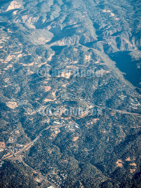 West Placerville, Calif. USA Fly-over County-from the window seat of Southwest #1882 from SMF to DAL, September 2016