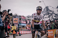 Sergio Henao (COL/SKY) crossing the finish line<br /> <br /> stage 20: Susa - Cervinia (214km)<br /> 101th Giro d'Italia 2018
