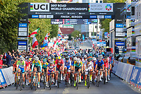 Picture by Alex Whitehead/SWpix.com - 23/09/2017 - Cycling - 2017 UCI Road World Championships, Day 7 - Bergen, Norway - Junior Men's Race.