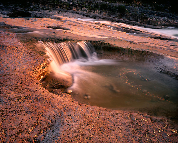 Morning light on Pedernales Falls; Pedernales Falls State Park, TX