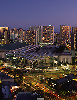 Convention Center, Waikiki, Honolulu, Oahu, Hawaii, USA.