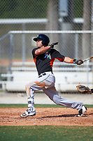Miami Marlins Aaron Blanton (18) during a minor league Spring Training intrasquad game on March 31, 2016 at Roger Dean Sports Complex in Jupiter, Florida.  (Mike Janes/Four Seam Images)