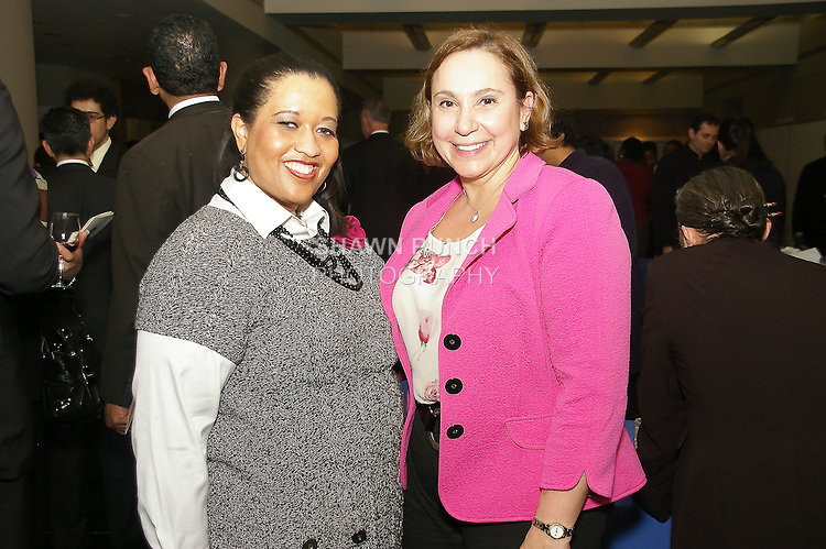 Guests attend reception after the John Jay Justice Award ceremony, April 5 2011.