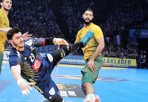 11.01.2017. Accor Arena, Paris, France. 25th World Handball Championships France versus Brazil. Ludovic Fabregas France in action