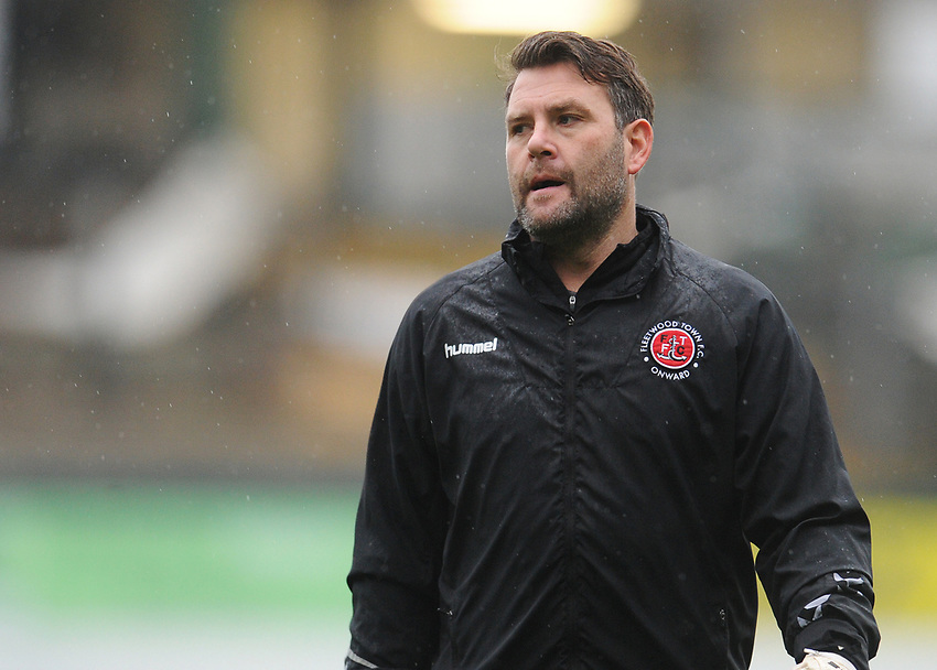 Fleetwood Town Goalkeeping Coach David Lucas during the pre-match warm-up <br /> <br /> Photographer Kevin Barnes/CameraSport<br /> <br /> The EFL Sky Bet League One - Plymouth Argyle v Fleetwood Town - Saturday 24th November 2018 - Home Park - Plymouth<br /> <br /> World Copyright © 2018 CameraSport. All rights reserved. 43 Linden Ave. Countesthorpe. Leicester. England. LE8 5PG - Tel: +44 (0) 116 277 4147 - admin@camerasport.com - www.camerasport.com