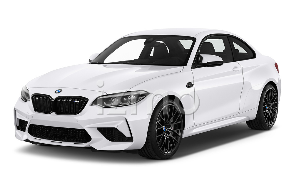 2019 BMW m2 competition Base 2 Door Coupe angular front stock photos of front three quarter view