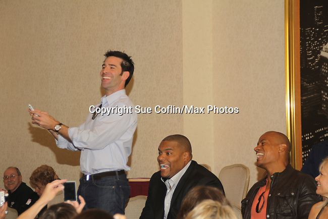 Max Walton, Sean Ringgold - Actors all on stage at The One Life To Live Lucheon at the Hemsley Hotel in New York City, New York on October 9, 2010. (Photo by Sue Coflin/Max Photos)