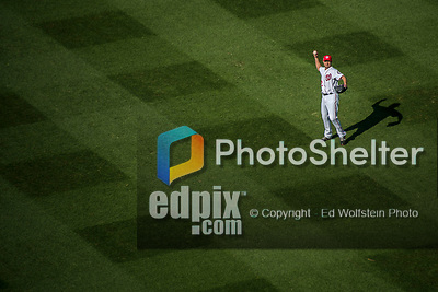 6 October 2017: Washington Nationals starting pitcher Max Scherzer takes some warmup tosses prior to the first game of the NLDS against the Chicago Cubs at Nationals Park in Washington, DC. The Cubs shut out the Nationals 3-0 to take a 1-0 lead in their best of five Postseason series. Mandatory Credit: Ed Wolfstein Photo *** RAW (NEF) Image File Available ***