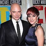Michael Cerveris and Kimberly Kay.attending the Broadway Opening Night Performance After Party for 'EVITA' at the Mariott Marquis Hotel in New York City on 4/5/2012
