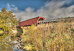HDR photograph of Roseman Covered Bridge, Madison County, Iowa