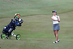 WILMINGTON, NC - OCTOBER 28: Notre Dame's Emma Albrecht on the 12th hole. The second round of the Landfall Tradition Women's Golf Tournament was held on October 28, 2017 at the Pete Dye Course at the Country Club of Landfall in Wilmington, NC.