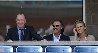 FLUSHING NY- SEPTEMBER 9: Kevin Spacey, Will Ferrell and his wife are sighted watching Novak Djokovic Vs David Ferrer in the mens semi finals on Arthur Ashe Stadium at the USTA Billie Jean King National Tennis Center on September 9, 2012 in in Flushing Queens. Credit: mpi04/MediaPunch Inc. ***NO NY NEWSPAPERS*** /NortePhoto.com<br />